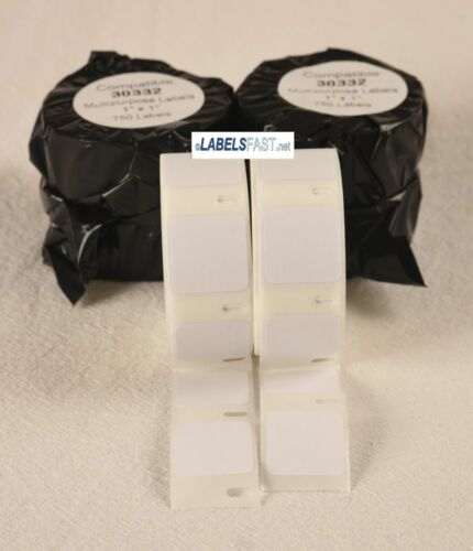 30332 Small Square Adhesive Multipurpose 750 Labels Dymo LabelWriter Compatible