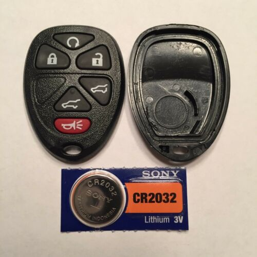 New 6 Button Keyless Remote Shell Case Pad CR2032 Battery OUC60270 15913427