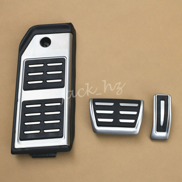A Set Stainless Steel Rubber Accelerator Pedal Brake Pedal for Audi Q7 2011-2015