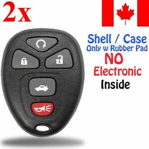 2x-New-Replacement-Keyless-Remote-Key-Fob-For-Chevy-Buick-Cadillac-Shell-Only
