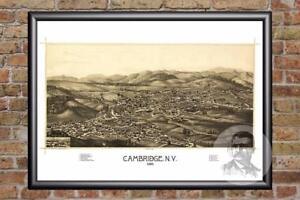 Vintage-Cambridge-NY-Map-1886-Historic-New-York-Art-Victorian-Industrial