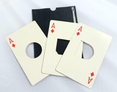 ADAIRS SQUARE CIRCLE CARD TRANSFORMATION Playing Magic Trick Pocket Bar Passe