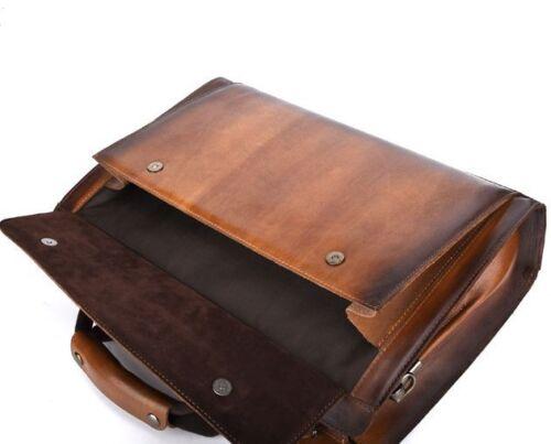 Hommes Véritable Cuir De Vache Messenger sac d/'épaule Serviette Sac à main sac d/'ordinateur portable M