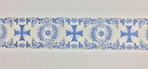 Orphrey-Vintage-Lino-Alba-Vestment-Cruz-Banda-9-5cm-Ancho-Vendido-por-Patio-Azul