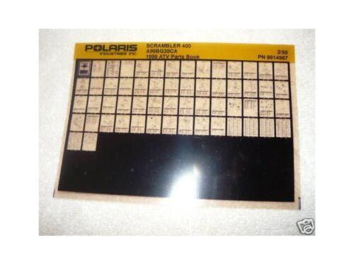 Polaris 1999 Scrambler 400 ATV Parts Manual Microfiche