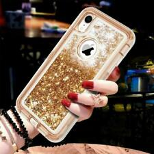 For iPhone X Xs Glitter Liquid Quicksand Defender Case Cover w/Screen Shockproof