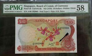 SINGAPORE-ORCHID-SERIES-10-A-68-192966-PMG58-AUNC
