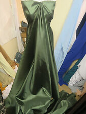 "1M NEW GREEN  DRESS  COLOURED  TAFFETA  FABRIC 58"" WIDE"