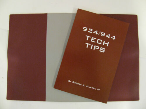 Porsche 924 944 Tech Tips book with beautiful embossed manual cover