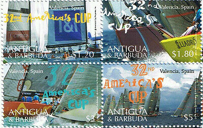 Antigua & Barbuda Scott #3008 Block Of 4 Stamps Ships / Sailing Vessels