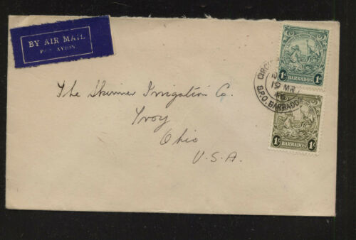 Barbados airmail cover to US 1946 AT0511