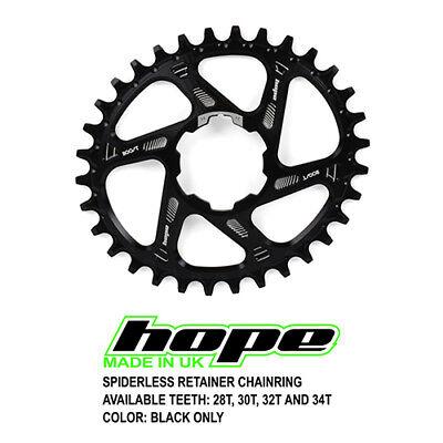 Black 34T Hope Spiderless Retainer Ring