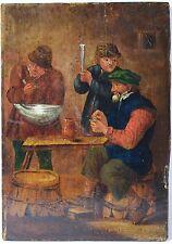 OLD MASTER PAINTING, OIL ON PANEL, TAVERN, DUTCH, BROUWER ADRIAEN (1605-1638)
