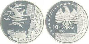 Wattenmeer 2004 Mint Mark J Proof, IN Coin Capsule