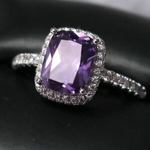 daily use engagement rings engagement lilac love fashion style Gift handmade rings Purple Murano Women/'s rings
