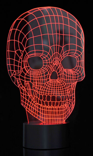 3d optical illusion led skull 7 color changing light night usb lamp halloween