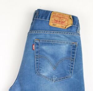 Levi-039-s-Strauss-amp-Co-Hommes-501-Jeans-Jambe-Droite-Taille-W32-L34-ATZ1673
