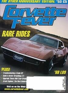 Corvette-Fever-Magazine-Feb-2003-Rare-Rides-039-68-L89-Cover