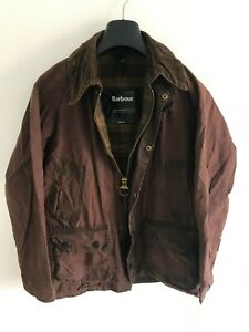 Mens-Barbour-Bedale-wax-jacket-Brown-coat-36-in-size-Small-Extra-Small-S-XS
