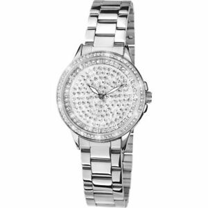 100% QualitäT Brand New Ladies Limit Watch Round Inlaid Crystal Dial Stainless Steel Bracelet Zahlreich In Vielfalt