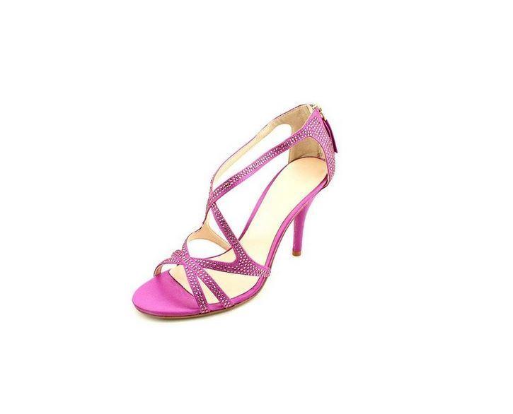 Nine West Altemis Damenschuhe Größe 9.5 Purple Textile Dress Sandale Schuhes
