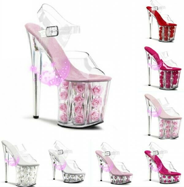 ahorre 60% de descuento Charol con Flor Flor Flor de Decoración LUCENCY Plataforma Alta Tacón Stiletto Zapatos para mujer elegante  marcas en línea venta barata
