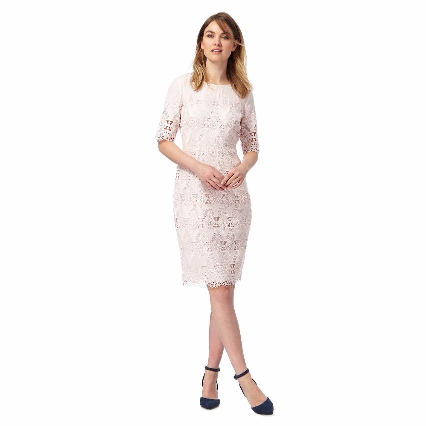Principles by Ben de Lisi  Rosa Lace Knee Length Shift Dress Größe 18 LS078 DD 15