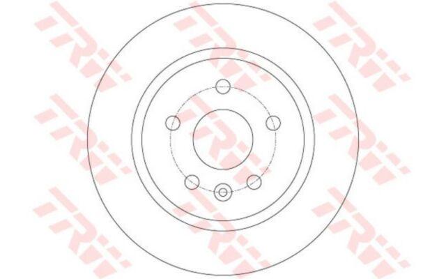 TRW Juego de 2 discos freno Trasero 268mm OPEL ASTRA FIAT CHEVROLET CRUZE DF6340