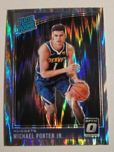 🔥 2018 Michael Porter Jr. #182 Optic Shock Rated Rookie RC Prizm - Nuggets 🔥