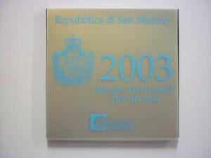 Coffret SAINT-MARIN  2003 - SAN MARINO 2003-8 pièces + 5 € argent (9 Pièces)