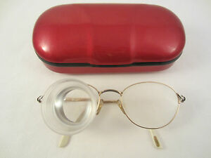 CARL-ZEISS-AUGAR-FB31-FERNGLAS-LUPE-BRILLE-cyl-2-0-FRANCE-22-Kt-Ct-GOLD-OR-ETUI