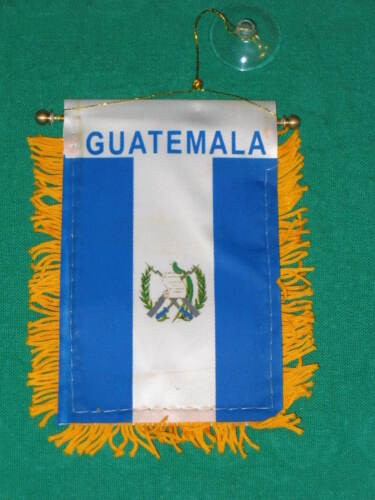 "GUATEMALA FLAG MINI BANNER 4/""x6/"" CAR WINDOW MIRROR NEW"