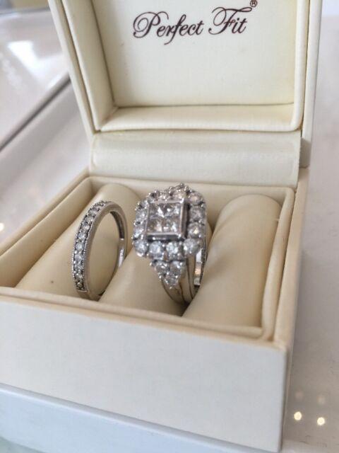H Samuel 9ct White Gold 2 00ct Carat Diamond Ring Fit Bridal Set N