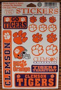 18 Clemson University Tigers Orange Paw Decal Stickers Ebay