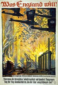 WA100 Vintage WW1 German Spoils Of War Propaganda War Poster WWI A1//A2//A3//A4