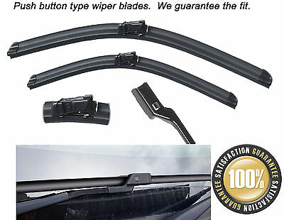 "26""22"" Push Button type Aero Flat Front windscreen wiper blades"