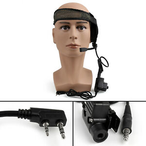 5x-HD01-Z-Tactical-Bowman-Elite-II-Headset-U94PTT-For-Kenwood-Walkie-Talkie