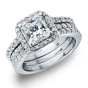 Anniversary ring CZ ring in Sterling 925 Silver Cubic Zirconia ring