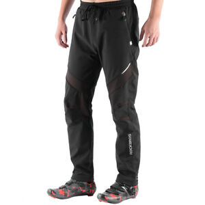 ROCKBROS-Winter-Pants-Fleece-Trousers-Windproof-Cycling-Casual-Pants-Red