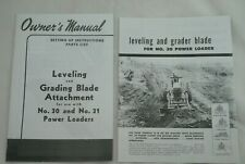 Ih Farmall Leveling Amp Grader Blade Manual Brochure 30 31 Power Loader H M