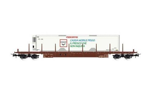 beladen mit 40' Kücontainer Typ Rgs Rivarossi 4-achs FS 6476/_HR Flachwagen