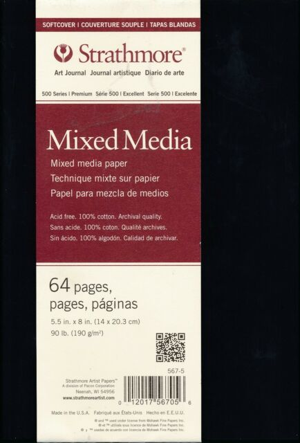 Strathmore 567-5 500 Series Softcover Mixed Media Art Journal, 5.5x8, 32 Sheets