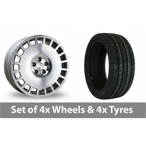 4-x-18-034-Bola-B12-Silver-Polished-Face-Alloy-Wheel-Rims-and-Tyres-225-45-18