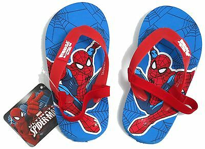 YOUNG BOYS SPIDER-MAN FLIP FLOP SANDALS WITH STRAP SIZE UK 6-7 EUR 23-24 USA 7-8