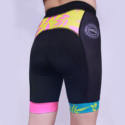 Damen 3D Gel gepolstert Radlerhosen Fahrrad kurze Hose Unterwäsche Shorts