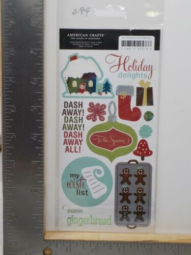 AMERICAN CRAFTS REMARKS FROSTING MERRYMINT ACCENTS CHRISTMAS STICKERS A11128