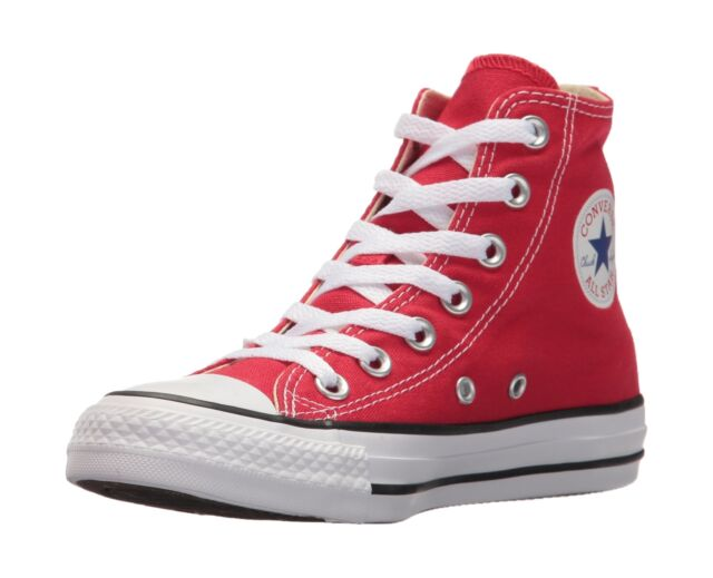 a340d718f8be Converse Unisex Kids  Youths Chuck Taylor All Star Hi Trainers Red (Red Red