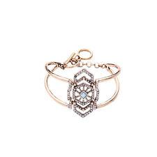 NEW J CREW Victorian Ellayne Blue Gemmed Rhinestone Bracelet