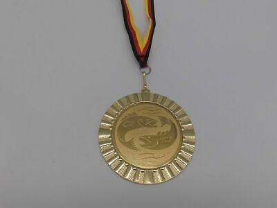 50 mm//gold Pokal Emblem Angeln