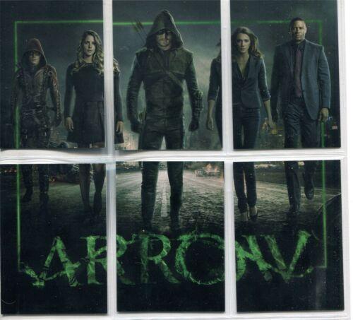 Arrow Season 3 Complete Team Arrow Chase Card Set Z1-6